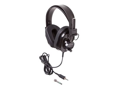 Califone Deluxe 2924AVPS Headphones full size wired 3.5 mm jack black