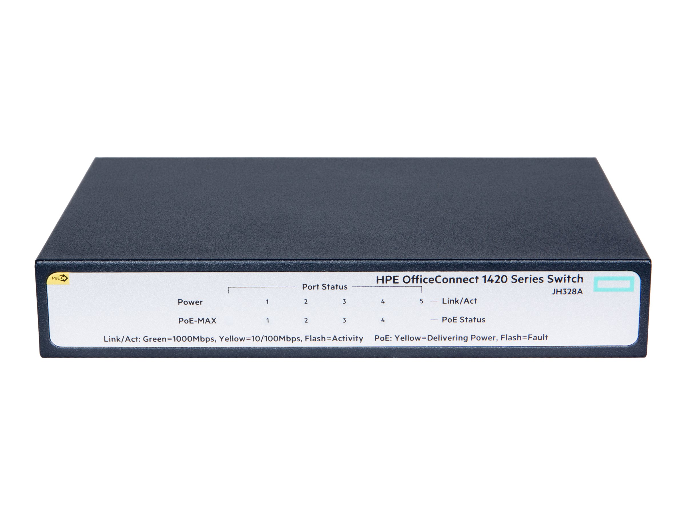 HPE OfficeConnect 1420 5G PoE+ - switch - 5 ports - unmanaged