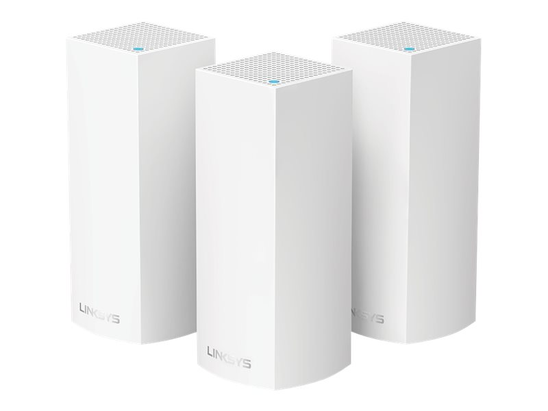 Linksys VELOP Whole Home Mesh Wi-Fi System WHW0303 - WLAN-System (3 Router) - bis zu 557 m² - Netz - GigE - Bluetooth 4.0 LE, 802.11b/g/n/ac