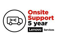Lenovo Onsite Upgrade - Extended service agreement - parts and labor (for system with 3 years on-site warranty) - 5 years (from original purchase date of the equipment) - on-site - for S400z; ThinkCentre M700z; M73z; M800z; M810z; M820z; ThinkSmart Hub 500