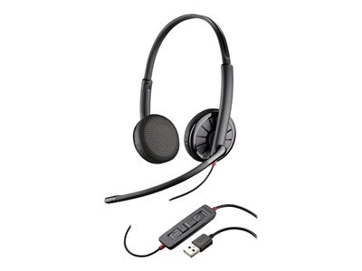Plantronics Blackwire 325-M 300 Series headset on-ear wired USB, 3.5 mm