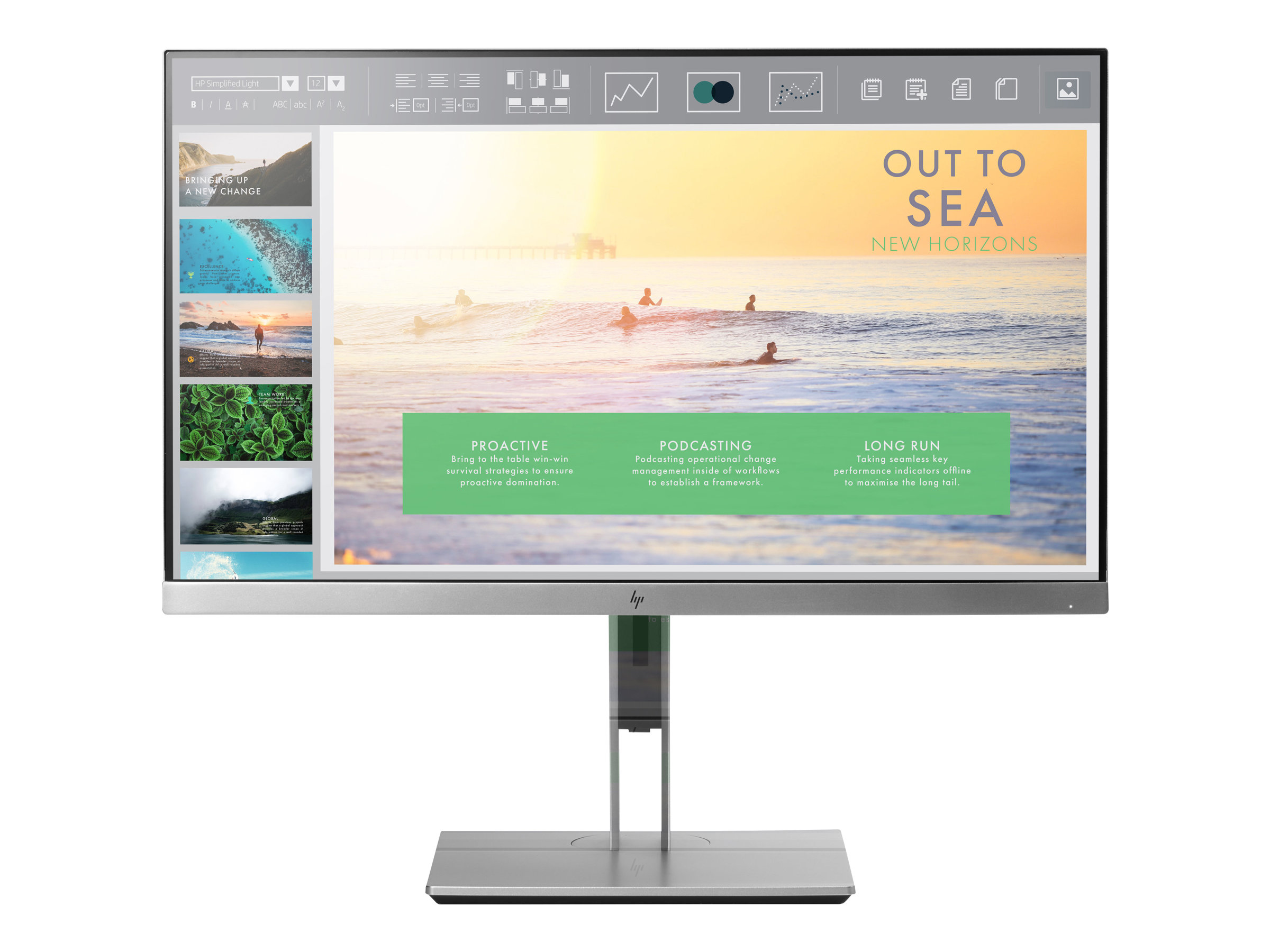 HP EliteDisplay E233 - LED-Monitor - 58.42 cm (23