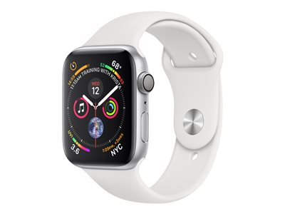 Apple Watch Series 4 (GPS) - sølvaluminium - smartklokke med sportsbånd - hvit - 16 GB