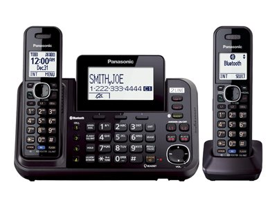 Panasonic KX-TG9542 - cordless phone - answering system - Bluetooth  interface with caller ID/call waiting + additional handset