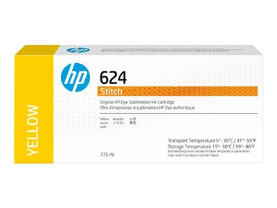 HP 624 - yellow - original - ink cartridge
