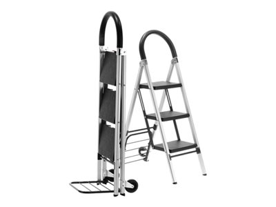 Conair Travel Smart Professional Grade Step ladder/ hand cart 3 steps aluminum