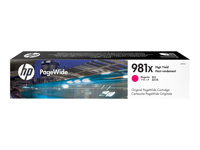 HP 981X - 116 ml - à rendement élevé - magenta - originale - PageWide - cartouche d'encre - pour PageWide Enterprise Color MFP 586; PageWide Managed Color E55650