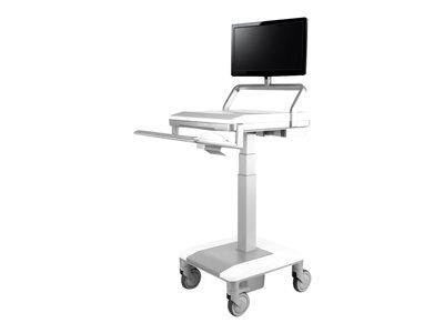 Humanscale TouchPoint Mobile Technology Cart T7 Non-Powered 200N Cylinder PC Gantry and PC work sur