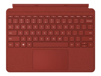 Microsoft TDSourcing Surface Go Type Cover - keyboard - with trackpad, accelerometer - QWERTY - English - poppy red