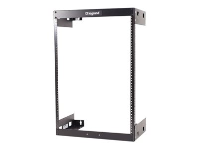 C2G 15U Wall Mount Open Frame Rack 18in Deep (TAA Compliant) Rack wall mountable black