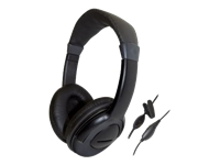 Computer Gear - Headset - full size - wired - black