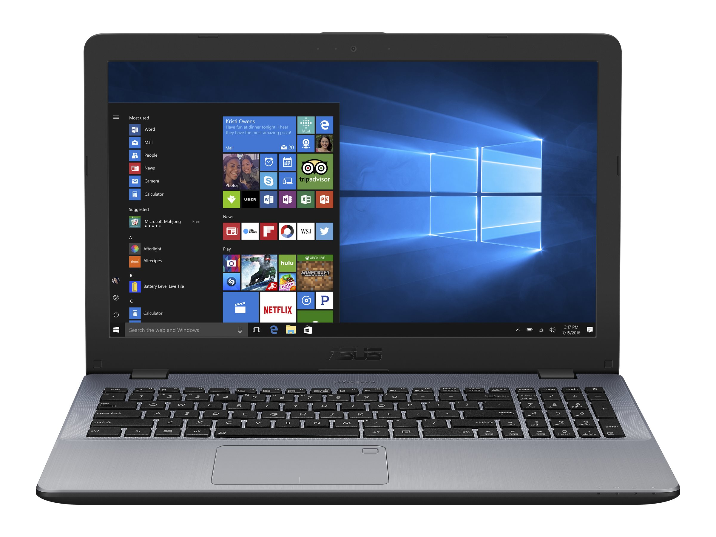 ASUS VivoBook 15 X542UQ DM026T - Core i5 7200U / 2.5 GHz - Win 10 Home 64-Bit - 8 GB RAM - 256 GB SSD - DVD SuperMulti