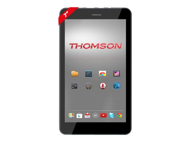 "Thomson TEO - Tablette - Android 5.0 (Lollipop) - 8 Go - 7"" TN (1024 x 600) - Logement microSD - noir"