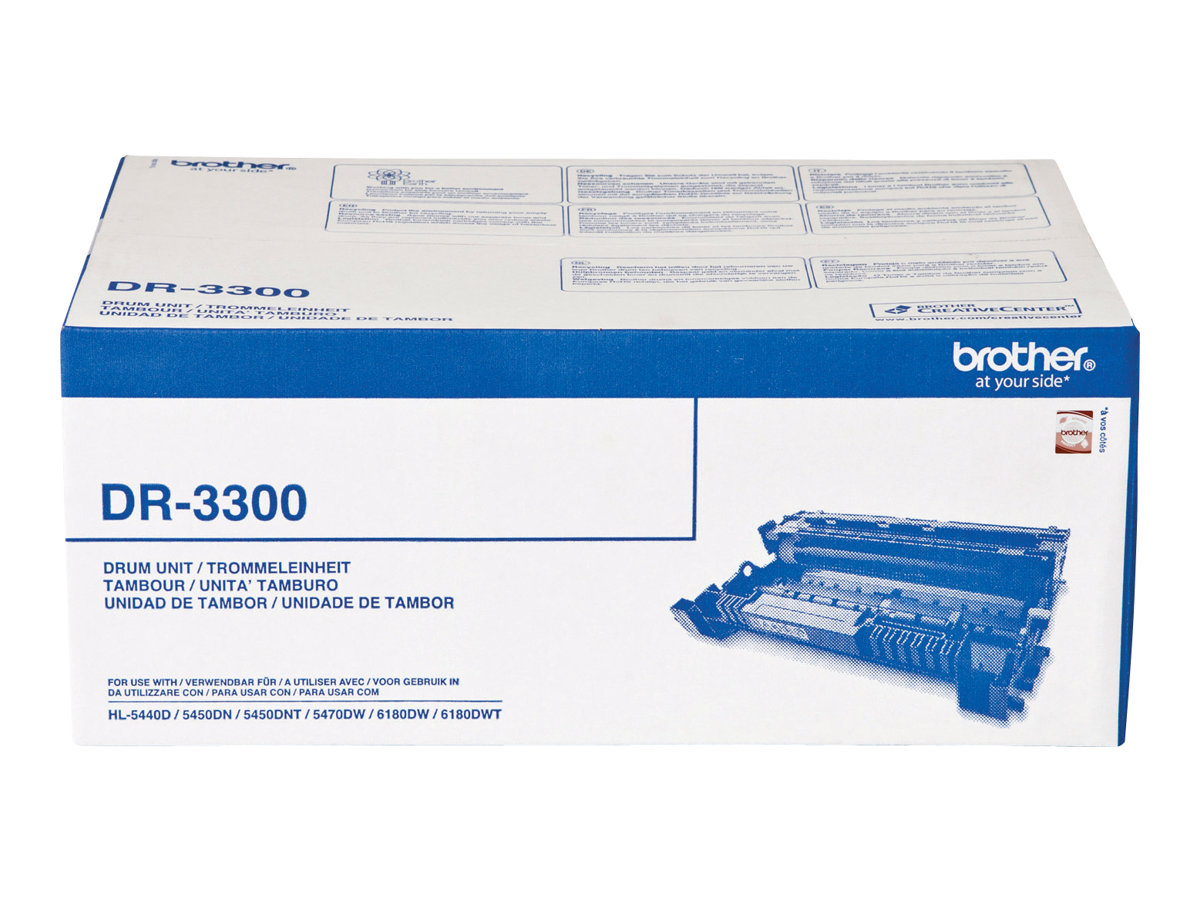 Brother DR3300 - OPC-Tommeleinheit - für Brother DCP-8110, 8150, 8155, 8250, HL-5440, 5450, 5470, 6180, MFC-8510, 8520, 8710, 8950