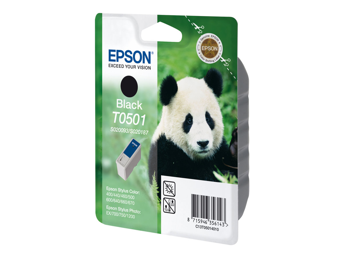 epson t0501 panda noire originale cartouche d 39 encre epson. Black Bedroom Furniture Sets. Home Design Ideas