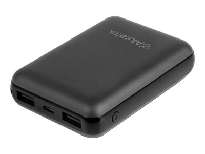 Aluratek Portable Battery Charger Power bank 10000 mAh 2 A 2 outp