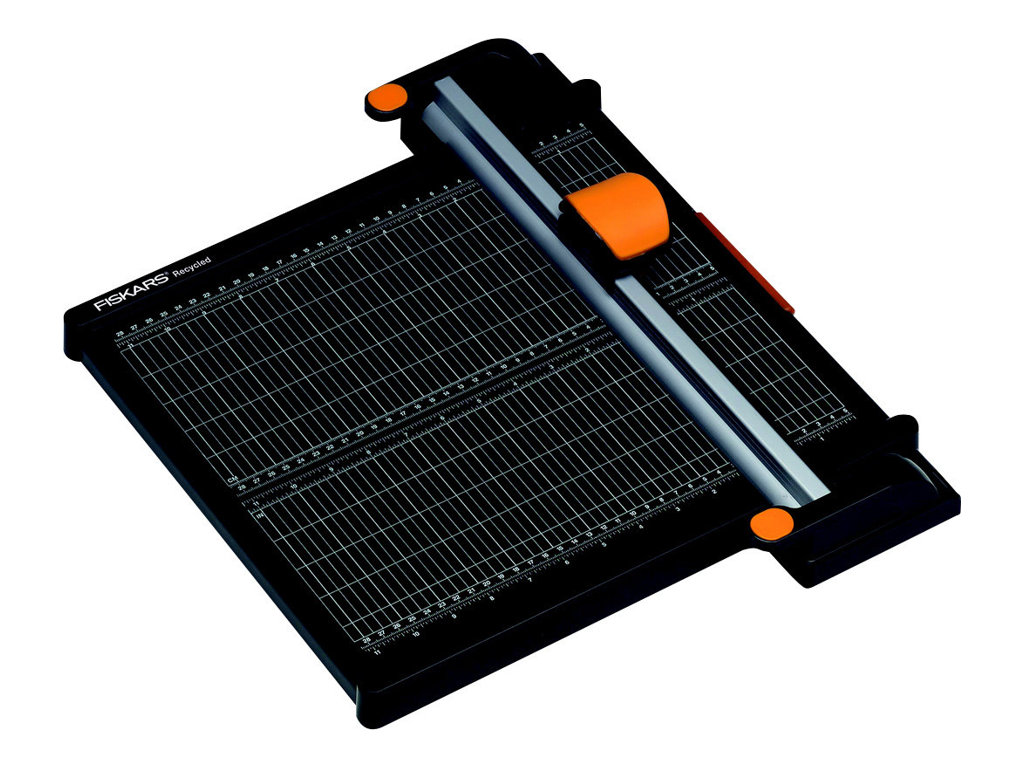 Fiskars A4 Recycled Titanium 45mm Rotary Paper Trimmer 30 cm - coupeuse