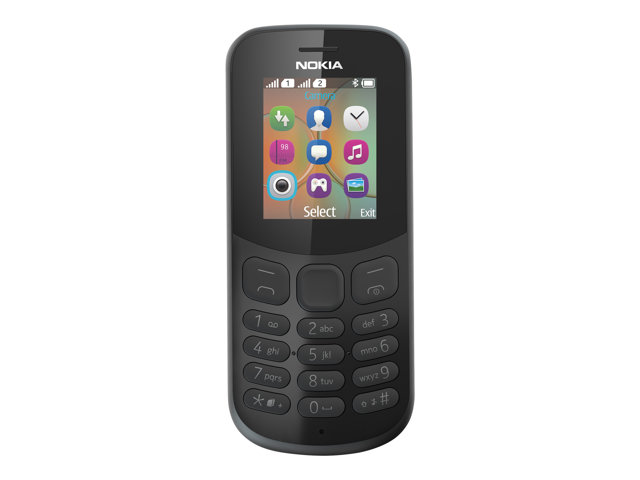 Image of Nokia 130 - black - 8 MB - GSM - mobile phone