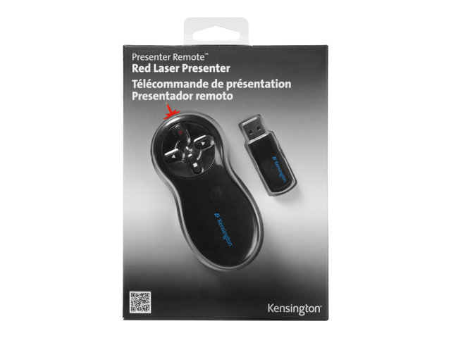 Kensington Si600 Wireless Presenter with Laser Pointer - télécommande de présentation