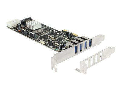 PCI Express Card > 4 x external USB 3.0 Quad Channel