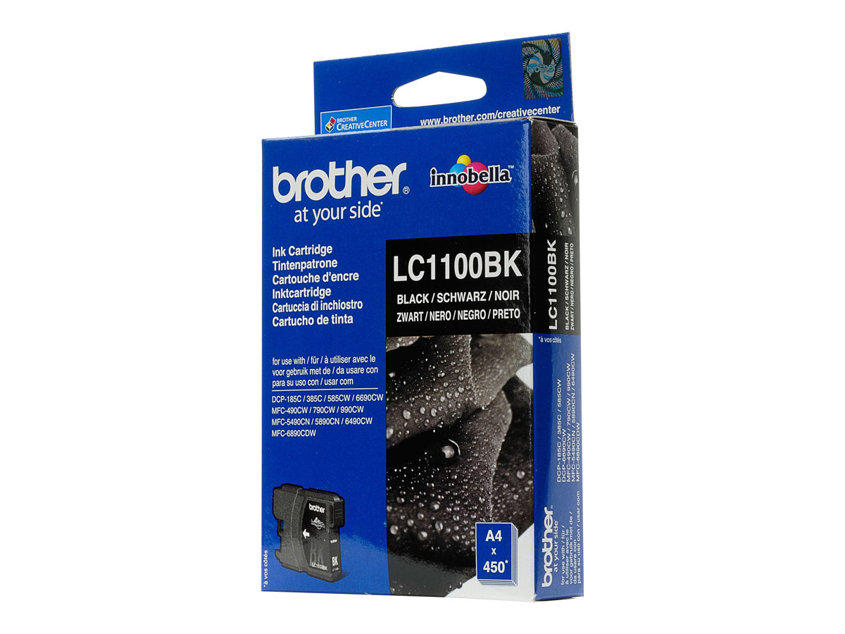 Brother LC1100BK - Schwarz - Original - Tintenpatrone - für Brother DCP-185, 385, 395, 585, J715, MFC-490, 5490, 5890, 5895, 6890, 790, 795, 990, J615