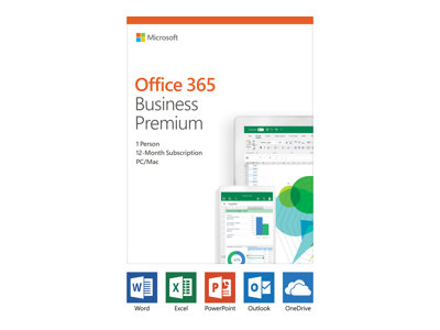 Microsoft Office 365 Business Premium Bokspakke 1 år 1 user (5 devices)