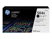 HP Toner/Black 504X Dual Pack Cartridge