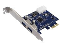 M-CAB PCI Express USB 3.0 Karte - USB-Adapter - PCIe 2.0 Low Profile - USB 3.0 x 2