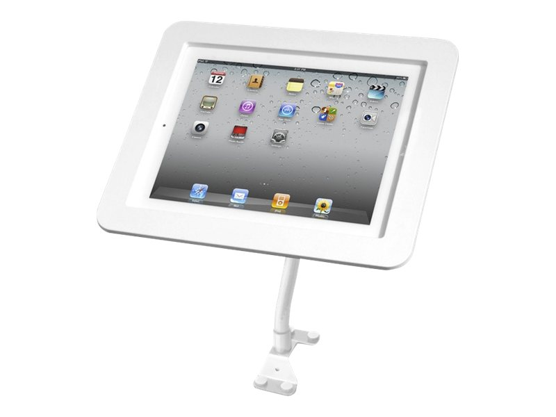 Compulocks iPad Secure Executive Enclosure with Flex Arm Kiosk White - Befestigungskit (Flexibler Arm, hochwertiges Gehäuse) für Tablett - weiß - Wandmontage möglich, Tischmontage (optional) -