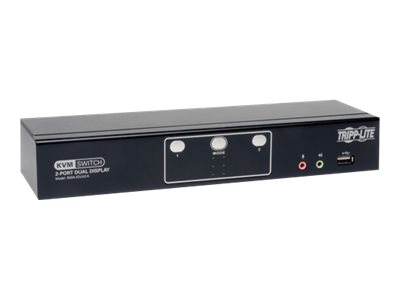 Tripp Lite 2-Port Dual Monitor DVI KVM Switch with Audio and USB 2.0 Hub