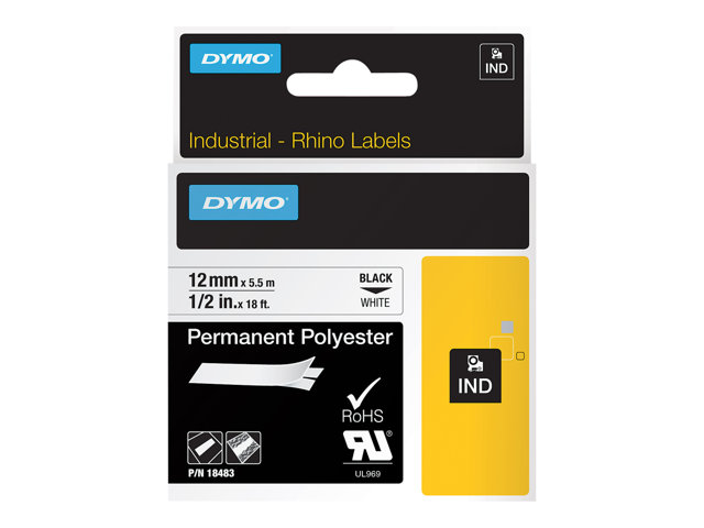Image of DYMO IND - label tape - 1 roll(s) - Roll (1.2 cm x 5 m)