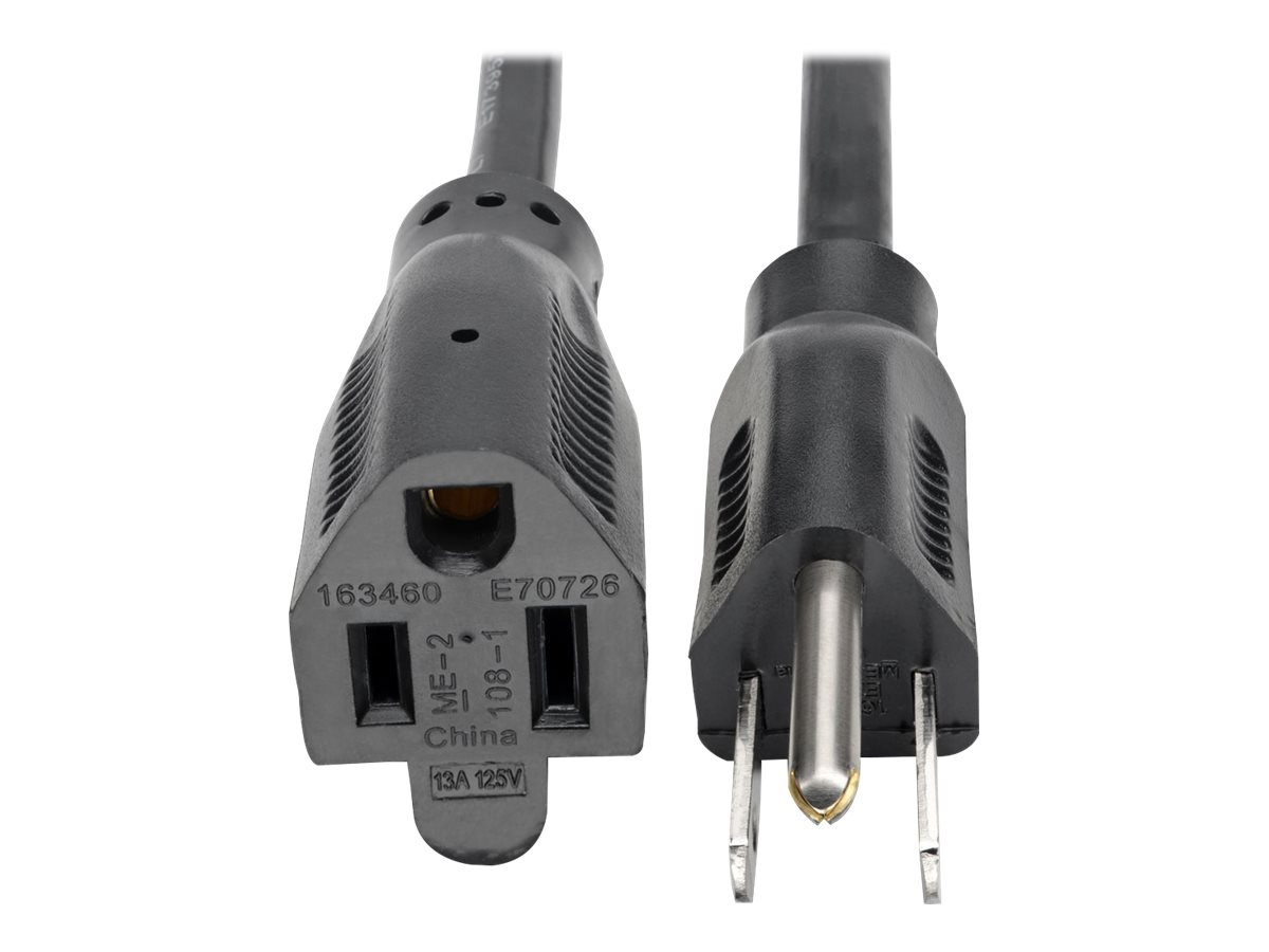 Tripp Lite 15ft Power Cord Extension Cable Standard 16 AWG 5-15P 5-15R 13A 15' - power extension cable - 4.6 m