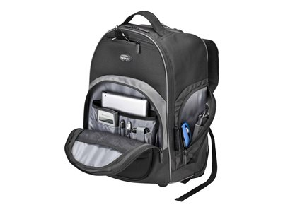 "Targus Compact Rolling Laptop 16/"" Backpack Black TSB750US BRAND NEW"