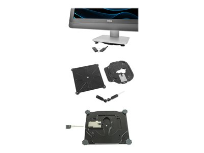 Noble High Securitty DELL Optiplex AIO Lock kit System security locking stand black