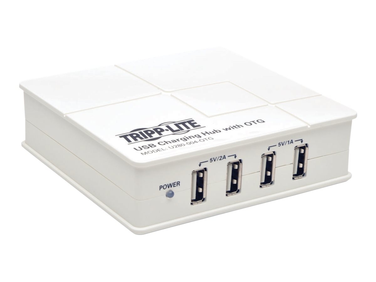 Tripp Lite 4-Port USB Charging Station with OTG Hub - 5V 6A / 30W USB Charger Output power adapter