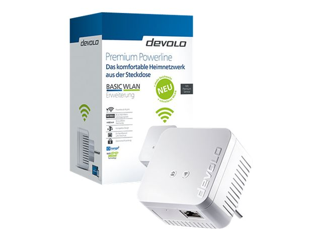 devolo BASIC WLAN - V2 - Bridge - HomePlug AV (HPAV), IEEE 1901 - 802.11b/g/n - 2,4 GHz