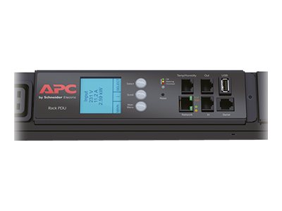 APC Metered Rack PDU - Power distribution unit ( rack-mountable ) - AC 400 V - 3-phase - Ethernet, RS-232, USB - input: IEC 309 EN 60309 32A - output connectors: 42 - 0U - black - for P/N: AR3100, SMX3000RMHV2UNC