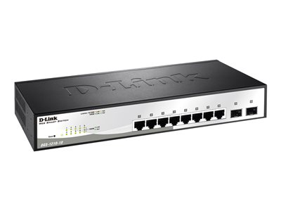 D-Link Smart+ DGS-1210-10 - switch - 8 ports - managed - rack-mountable