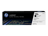 HP 128A Black Dual Pack LJ Toner Cartridge