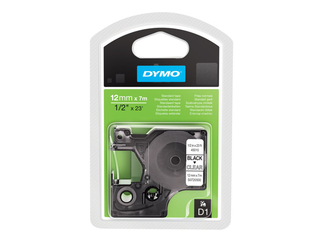 Image of DYMO D1 - label tape - 1 roll(s) - Roll (1.2 cm x 7 m)