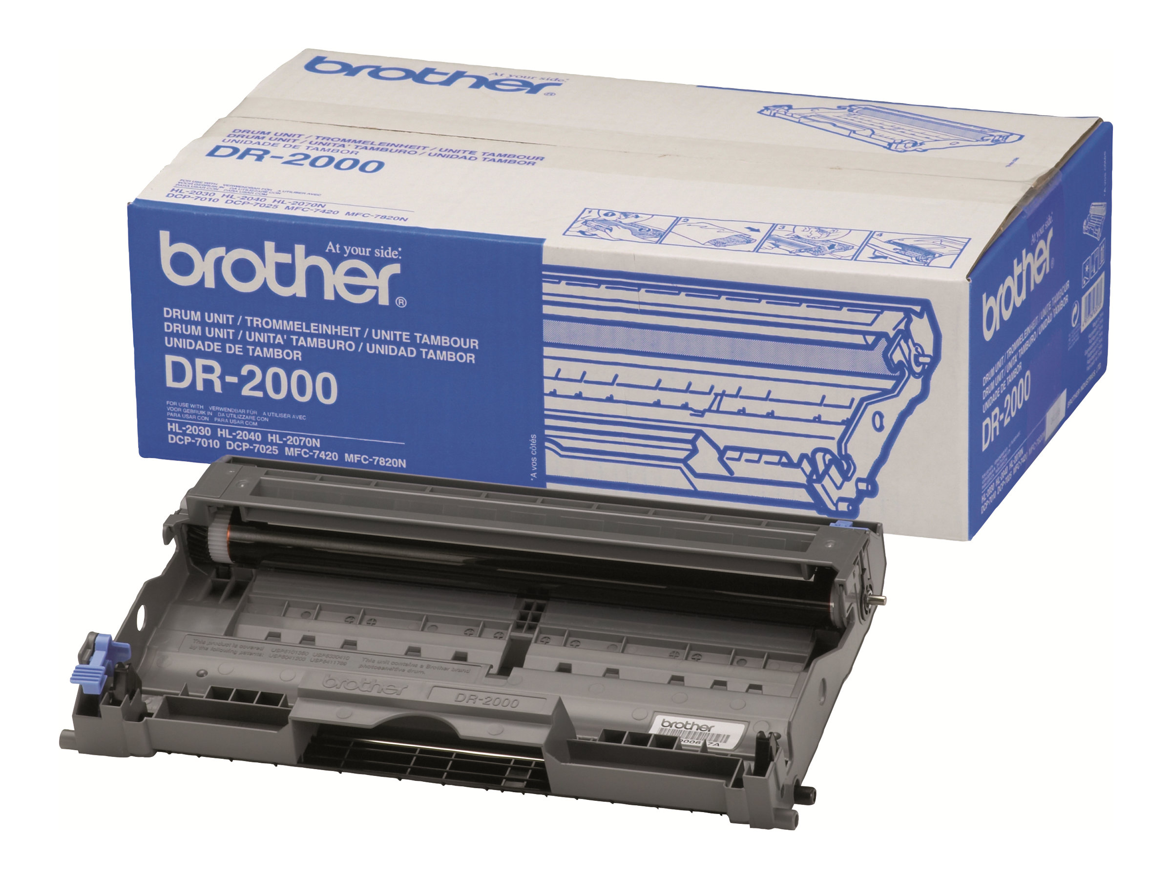 Brother DR2000 - Trommel-Kit - für Brother DCP-7010, 7025, HL-2030, 2040, 2070, MFC-7225, 7420, 7820; FAX-28XX