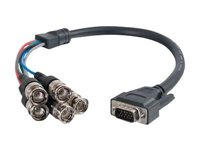 C2G Premium VGA Male to RGBHV (5-BNC) Male Video Cable VGA cable HD-15 (VGA) (M) to BNC (M)