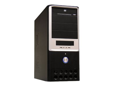LC Power Classic 7005B - Midi Tower - ATX 420 Watt (ATX12V 1.3) - Schwarz, Silber - USB/Audio