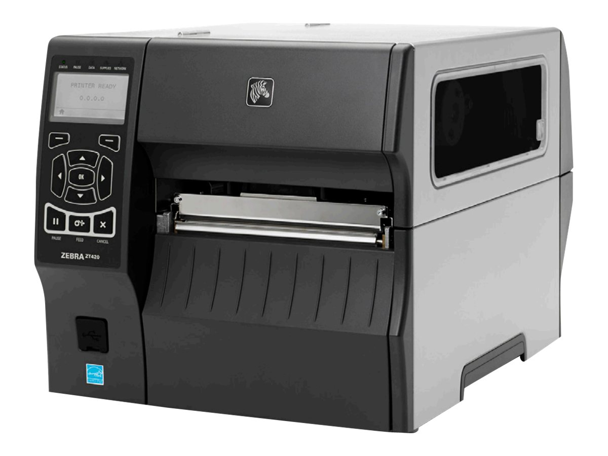 Zebra ZT400 Series ZT420 - label printer - B/W - direct thermal / thermal transfer