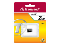 Transcend - Flash memory card - 2 GB - microSD
