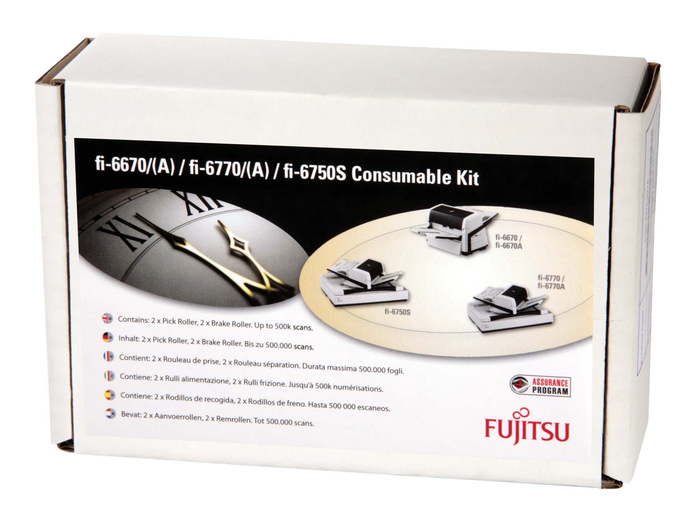 Fujitsu Consumable Kit - Scanner - Verbrauchsmaterialienkit - für fi-6670, 6670A, 6750S, 6770, 6770A