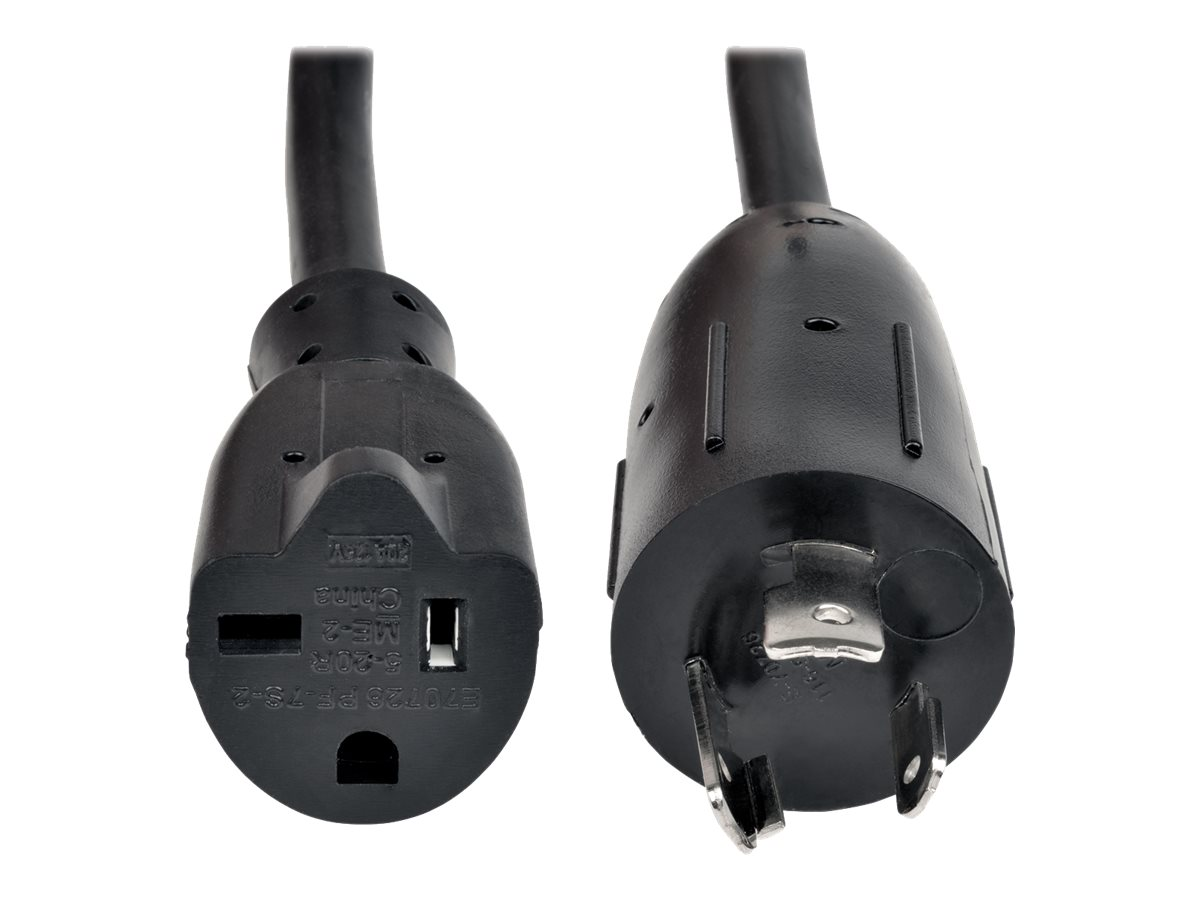 """Tripp Lite 6in Power Cord Adapter Cable L5-20P to 5-20R Heavy Duty 20A 12AWG 6"""" - power connector adapter - 15 cm"""