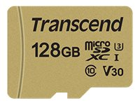 Transcend 500S - flash-minneskort - 128 GB - microSDXC