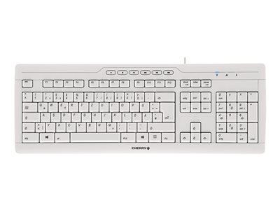 CHERRY STREAM 3.0 Keyboard USB UK layout key switch: CHERRY SX pale gray