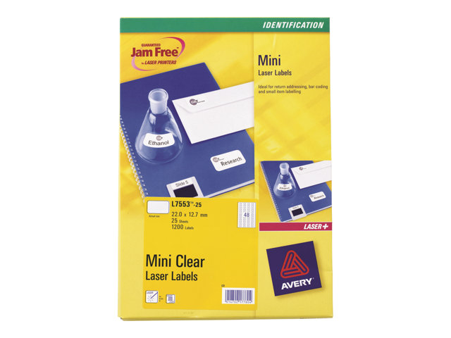 Image of Avery - labels - 1200 label(s) - 22 x 12.7 mm
